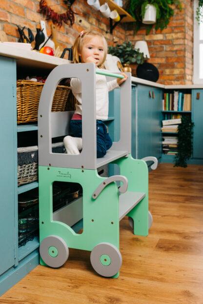 Torre aprendizaje Montessori Verde Gris
