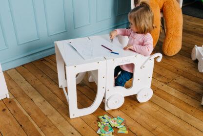 Torre aprendizaje Montessori Blanca Blanca